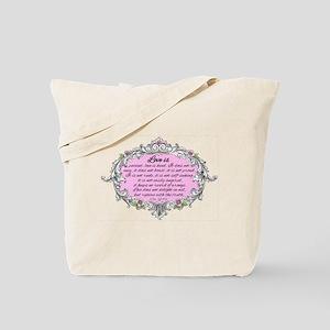 1 Corinthians 13:4-6 Vintage Tote Bag