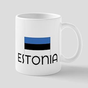 I HEART ESTONIA FLAG Mug