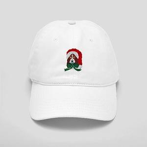 Basset Puppy Santa Baseball Cap
