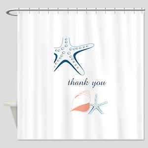 Seashells Thank You Shower Curtain