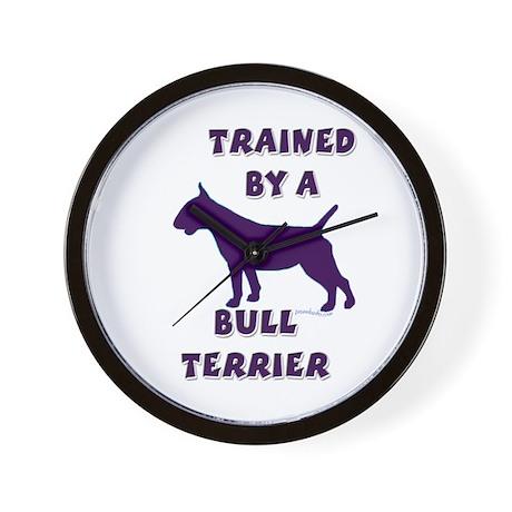Bull Terrier Ppl Wall Clock