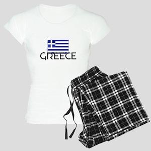 I HEART GREECE FLAG Pajamas