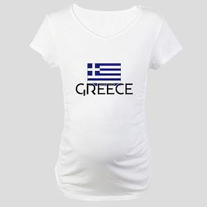 I HEART GREECE FLAG Maternity T-Shirt