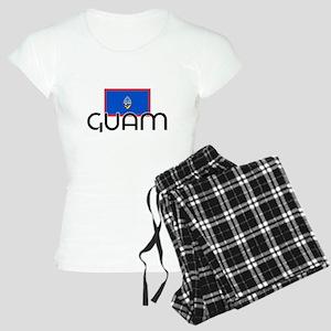I HEART GUAM FLAG Pajamas