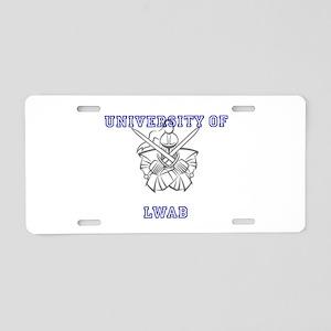University of LWAB Aluminum License Plate