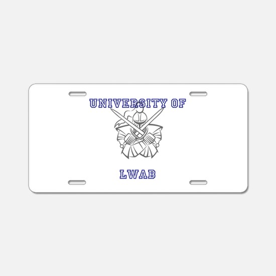 University of LWAB Aluminum License Plate