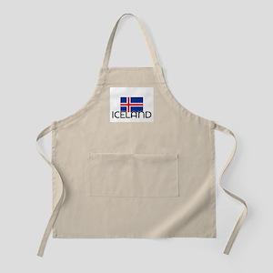 I HEART ICELAND FLAG Apron