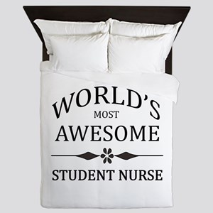 World's Most Awesome Student Nurse Queen Duvet