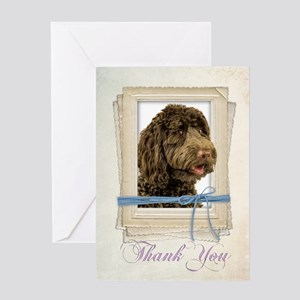 Labradoodle Thank You Card
