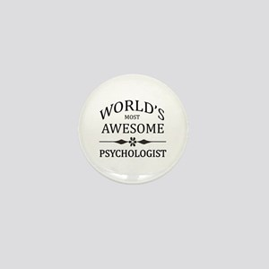 World's Most Awesome Psychologist Mini Button