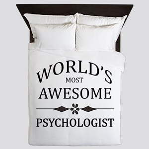 World's Most Awesome Psychologist Queen Duvet