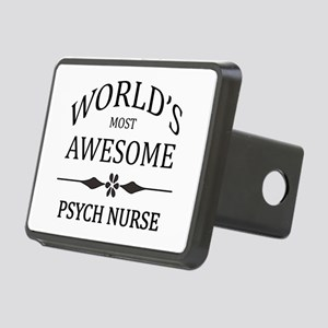 World's Most Awesome Psych Nurse Rectangular Hitch
