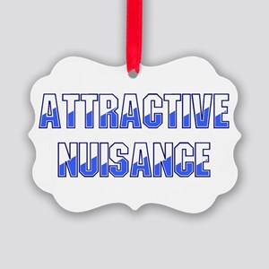 Attractive Nuisance (Blue) Ornament