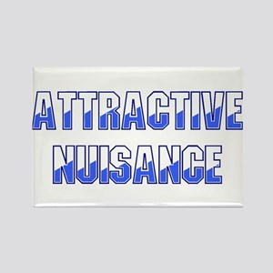 Attractive Nuisance (Blue) Rectangle Magnet