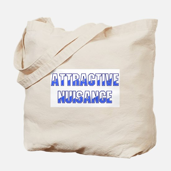 Attractive Nuisance (Blue) Tote Bag