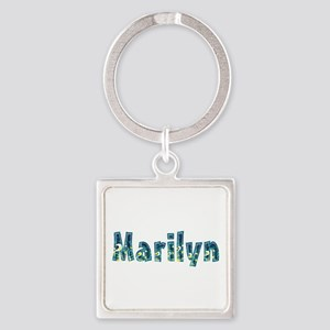 Marilyn Under Sea Square Keychain