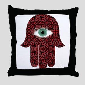 Hamsa Hand 21 Throw Pillow
