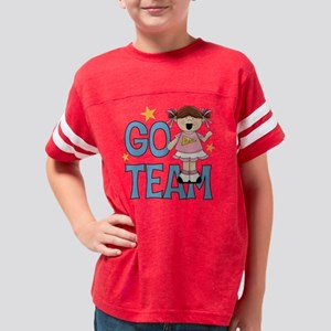 Go Team Cheerleader Youth Football Shirt