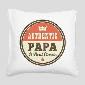 Classic Papa Square Canvas Pillow