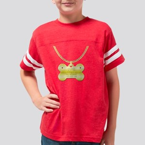 3-poodletag Youth Football Shirt
