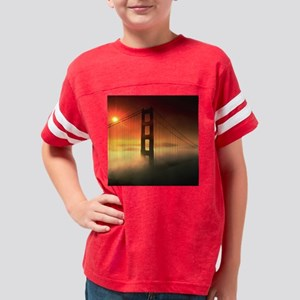 golden_gate_bridge above fr 2 Youth Football Shirt