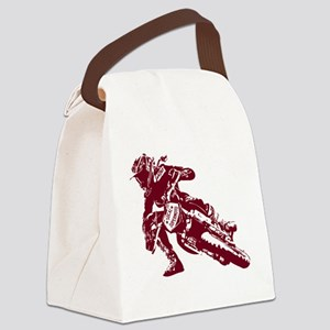 Women ride Socal Supermoto T Canvas Lunch Bag