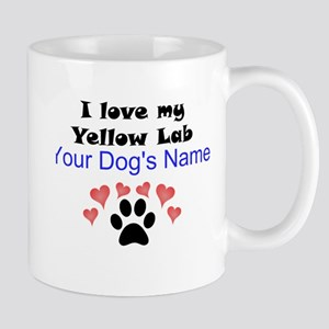 Custom I Love My Yellow Lab Mug