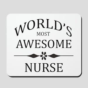 World's Most Awesome Nurse Mousepad