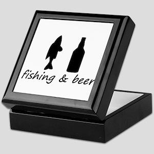 FISHING AND BEER DESIGN Keepsake Box