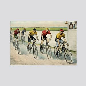 Wheelmen in a red hot finish - 1894 Magnets