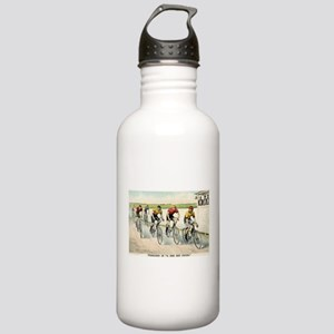 Wheelmen in a red hot finish - 1894 Water Bottle