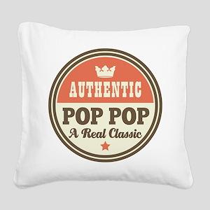 Classic Pop Pop Square Canvas Pillow