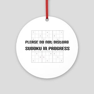 Please do not disturb, sudoku Ornament (Round)