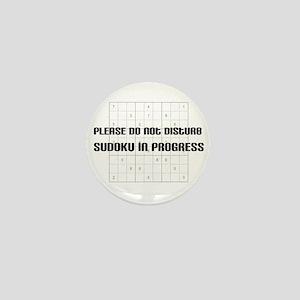 Please do not disturb, sudoku Mini Button