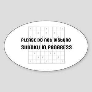 Please do not disturb, sudoku Oval Sticker