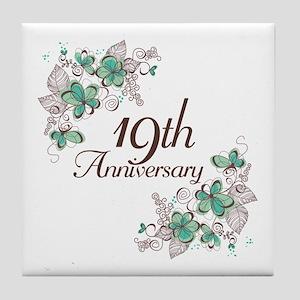 19th Anniversary Keepsake Tile Coaster