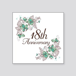 "18th Anniversary Keepsake Square Sticker 3"" x 3"""
