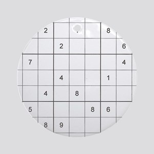 Sudoku Square Ornament (Round)