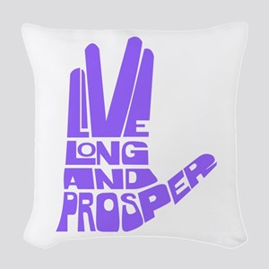 llap purple Woven Throw Pillow