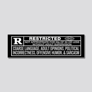 Rated R Car Magnet 10 x 3