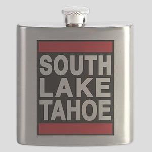 south lake tahoe 1 red Flask