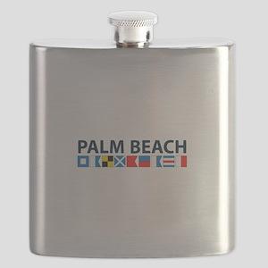 Palm Beach - Nautical Flags. Flask