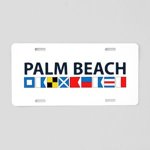 Palm Beach - Nautical Flags. Aluminum License Plat