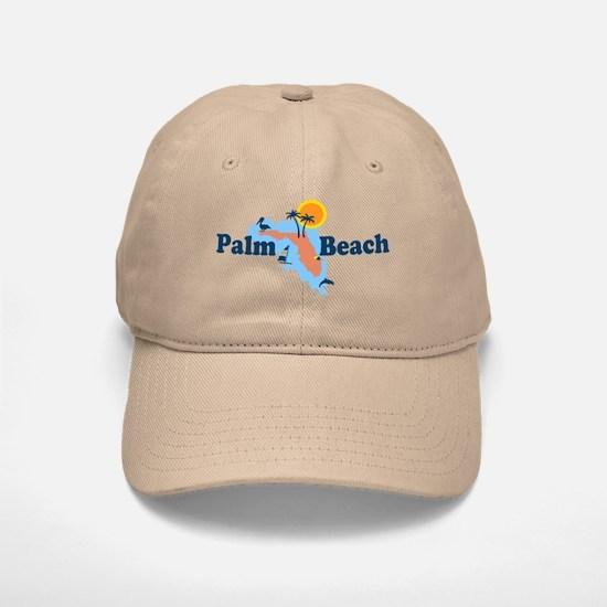 Palm Beach - Maps Design. Baseball Baseball Cap