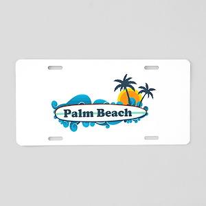 Palm Beach - Surf Design. Aluminum License Plate