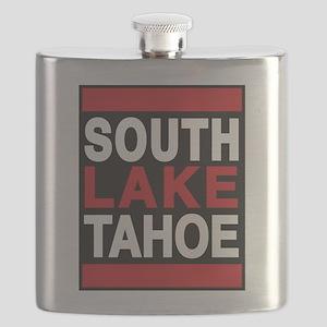 south lake tahoe 2 red Flask