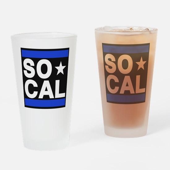 so cal sq blue Drinking Glass