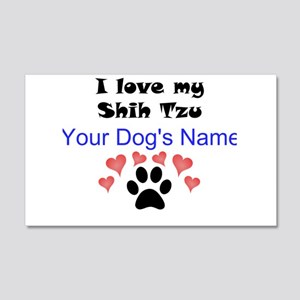 Custom I Love My Shih Tzu Wall Decal