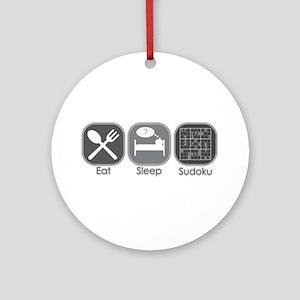 Eat. Sleep. Sudoku Ornament (Round)