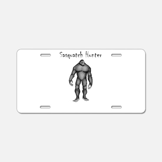 Sasquatch Hunter Aluminum License Plate